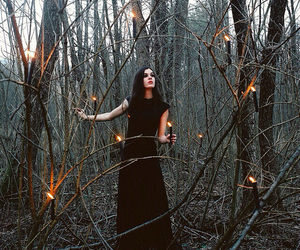 magic, witch, and forest image