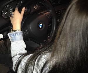 black, car, and hair image