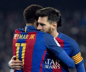 football, messi, and neymar image