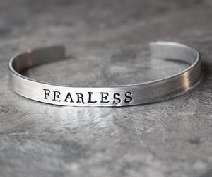 bracelet, fearless, and nofear image