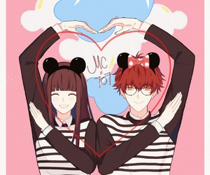 mickey mouse, minnie mouse, and rin image