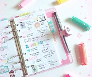 kawaii, organize, and planning image