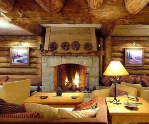 home, house, and fireplace image