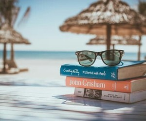 books, summer, and beach image