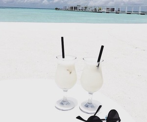 beach, delicious, and drinks image