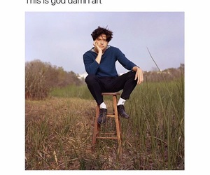 cole sprouse, love, and art image