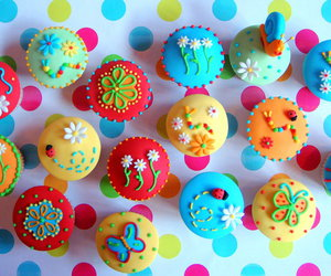 colors, Cookies, and cupcakes image