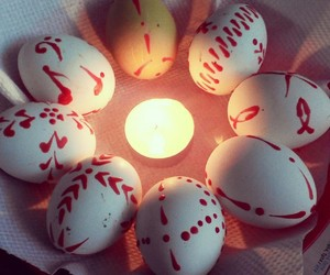 easter, eggs, and light image