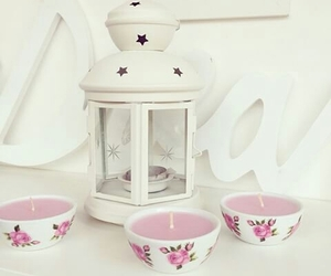 girly, ikea, and floral candles image