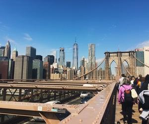 bridge, Brooklyn, and buildings image