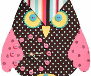 clock, cloth, and owl image