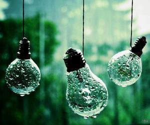 drop, light, and rain image