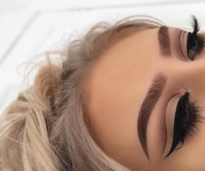 blonde, eye shadow, and makeup image