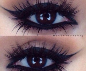 beauty, eye goals, and make up image