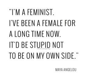 quotes, feminist, and feminism image