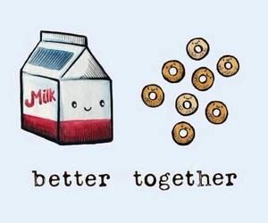 food, milk, and wallpaper image