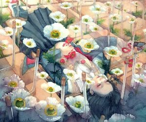 flowers, art, and anime image