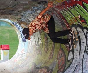cool, girl, and skatebord image