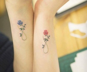flower, sister, and tattoo image