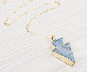 etsy, blue stone necklace, and long boho necklace image