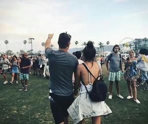 coachella, couple, and music festival image