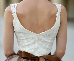 dress, bow, and brown image