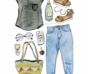 bag, clothes, and dibujo image