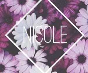 flowers, Nicole, and purple image
