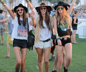 girl, coachella, and friends image