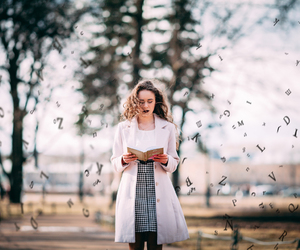 beautiful, books, and girl image