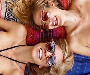 beach, sunglasses, and bikini image