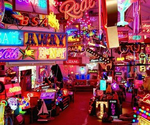aesthetic, light, and neon image