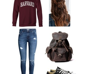 college, converse, and harvard image