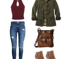 fall, Polyvore, and school outfit image