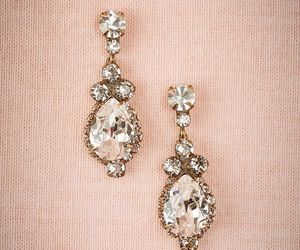 earrings, girly, and fashion image