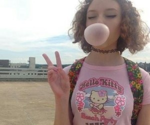 girl, hello kitty, and grunge image