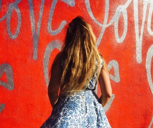 dress, los angeles, and red image