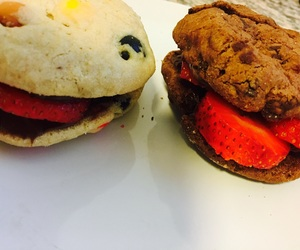 burger, stawberry, and Cookies image