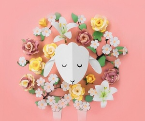 flowers and sheep image