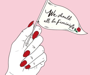 feminist, art, and pink image