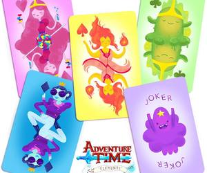cards and adventure time image
