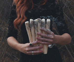candles, hands, and witchy image
