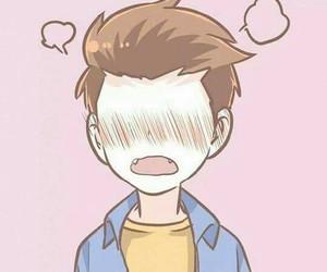 pink and anime boy image