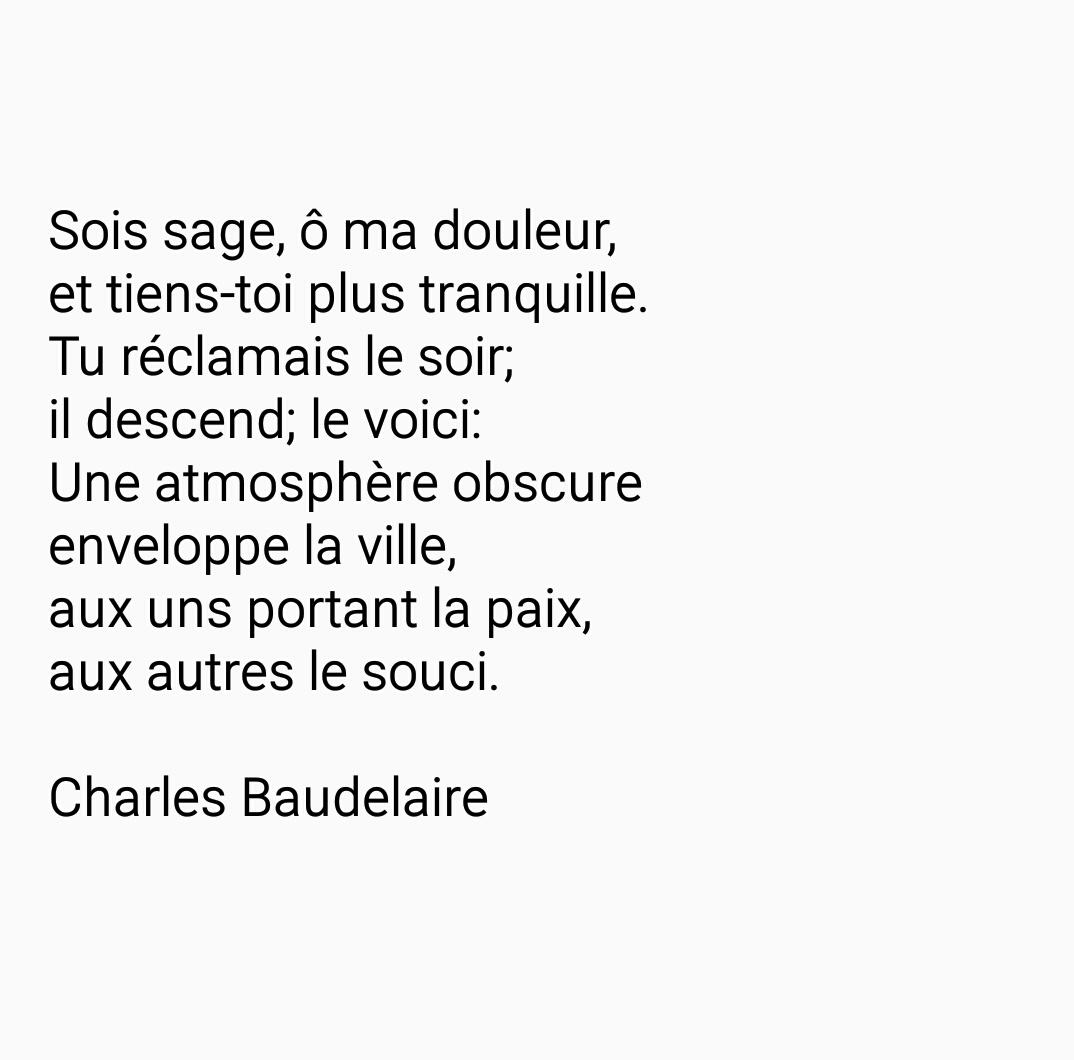 Poème De Charles Baudelaire Uploaded By Unefillesombre