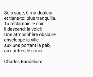 Charles Baudelaire, paix, and soir image