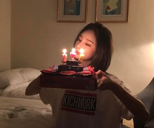 asian, birthday, and cake image