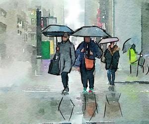 city, walk, and love image