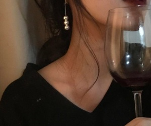 girl, wine, and aesthetic image