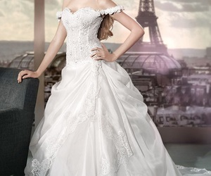 bridal, Couture, and eiffel tower image