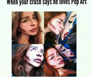 art, crush, and funny image